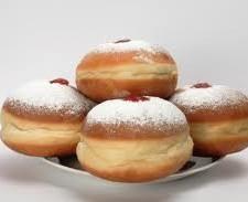 jelly donuts 225x183  Hanukkah Jelly Donuts – Sufganiyot