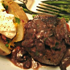 Valentine Steak Dinner 2 225x225  Filet Mignons with Mushroom Sauce