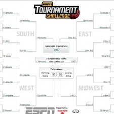 espn tournament bracket 225x225  March Madness Ensues