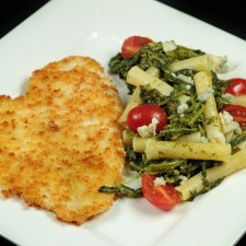 Panko Breaded Flounder 225x225  Chef Dennis' Panko Breaded Flounder with Pasta and Broccoli Rabe