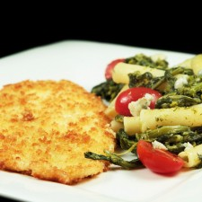 Chef Dennis Panko Breaded Flounder With Pasta And