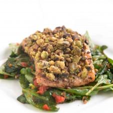 pistachio salmon 3 225x225  Chef Dennis' Pistachio Encrusted Salmon