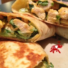 wrap3 225x225  Grilled Chicken Ceasar Wrap