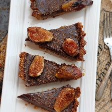 Roasted figs chocolate ganache tart recipe 1 225x225  Roxana's Roasted Figs Chocolate Tart