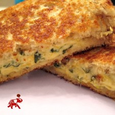 Spinach Dip Grilled Cheese 225x225  Spinach Dip Grilled Cheese
