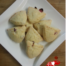 Cranberry Orange Scone 225x225  Paleo Cranberry Orange Scone