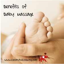 Coconut Oil Infant Massage 225x225  Benefits of Infant Massage