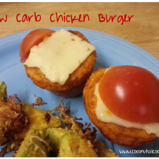 Low Carb Burger 225x225  Low Carb Buffalo Chicken Burger