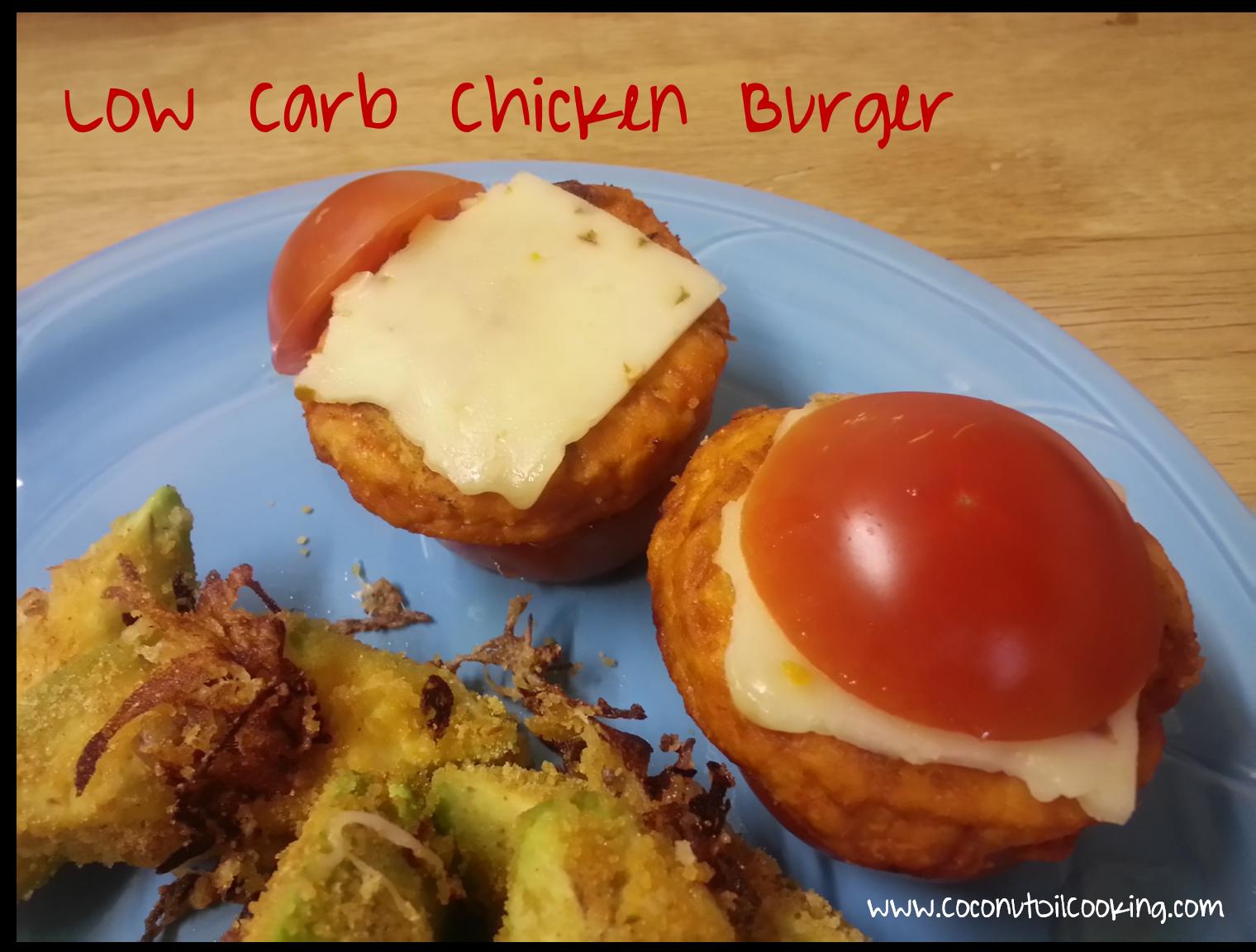 Low Carb Buffalo Chicken Burger