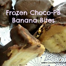 Frozen Choco PB Banana Bites 225x225  Quick and Easy Frozen Banana Dessert