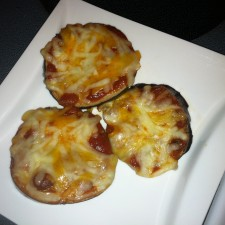 Pizza 225x225  Mini Eggplant Pizzas