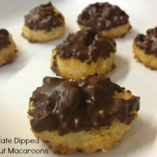 Chocolate Macaroons 2 225x225  Chocolate Dipped Coconut Macaroons