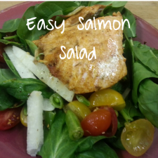 Easy Salmon Salad 225x225  Waistline Wednesday: 5 Tips and Tricks for Healthy Salad Eating