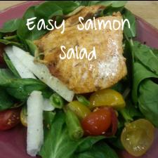 Easy Salmon Salad 225x225  Waistline Wednesday: 5 Tips and Tricks for Healthy Salad Eating