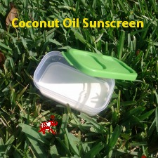 coconut oil sunscreen  Top Sunburn Relief Tips