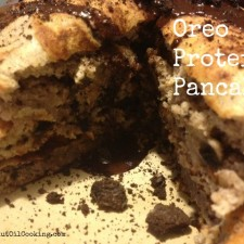 Oreo Pancakes 225x225  Oreo Protein Pancakes