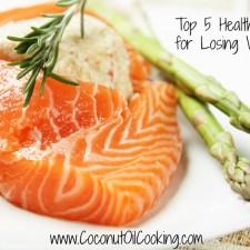 Salmon 225x225  Top 5 Healthy Fats for Losing Weight