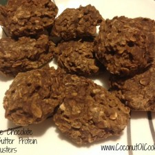 Peanut Butter Clusters 225x225  No-Bake Chocolate Peanut Butter Protein Clusters
