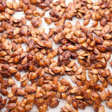 Roasted Pumpkin Seeds 225x225  Cinnamon Toast Pumpkin Seeds