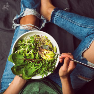 Template EatingSalad 300x300  Tips For Completing Your First Whole 30/Tips For Going Paleo