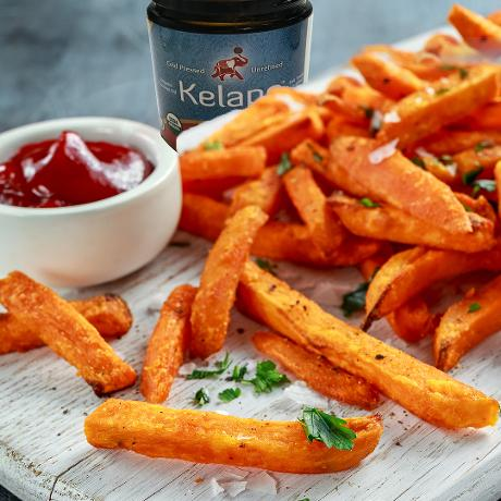 ff  Spicy Baked Sweet Potato Fries